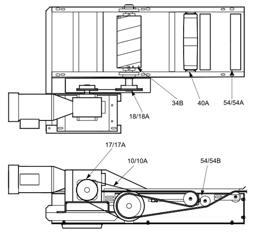 Belt SA2001 Intermediate Section Parts