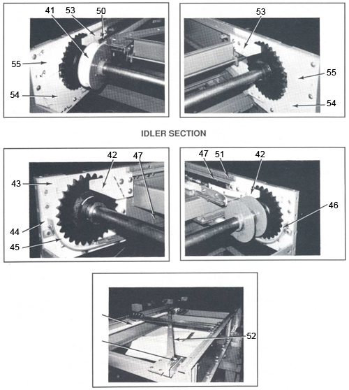Unisort V Drive Section and Idler Section Parts